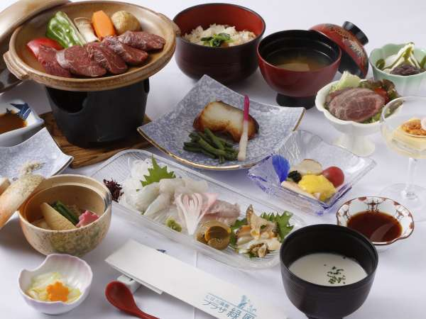 しほろ牛会席膳/台物しほ牛のヒレ肉を使用