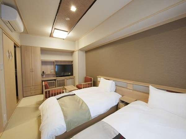 ■モデレートツイン24.75㎡ トイレ、バス・トイレ付 ベッドサイズ110cm×200cm 2台