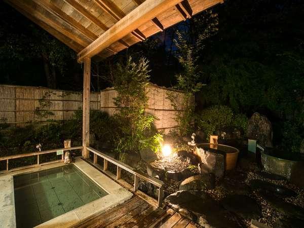 夜の露天風呂も格別です。
