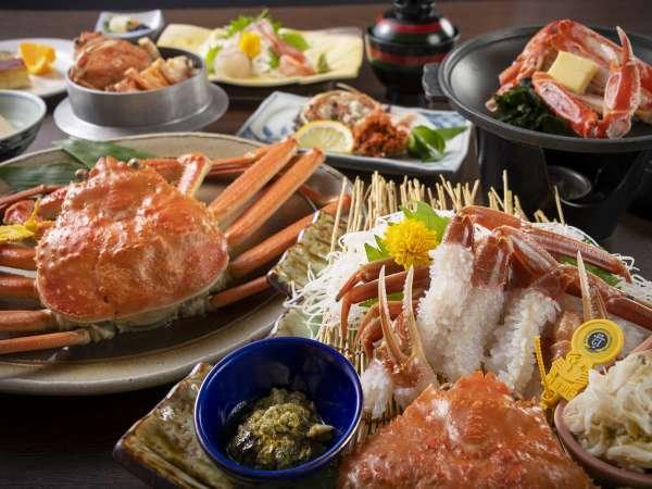 蟹満喫コースメインが茹で蟹か蟹刺しからお選び頂けます!