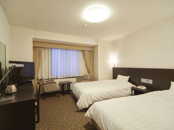 スーペリアツイン(広さ22.5~23.8平米)快眠いただける寝心地の良いベッドを使用