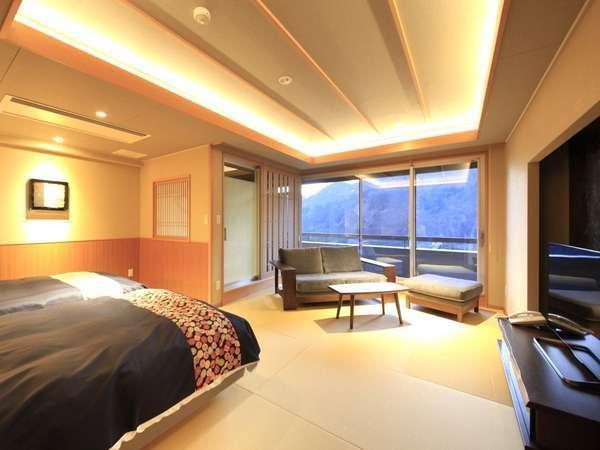 【最上階露天付】2シモンズベッド+源泉掛流し露天風呂+シャワー+シャワートイレ