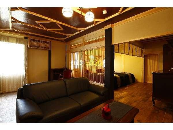 【掛け流し半露天風呂付】和洋特別室100平米【仙】リビング
