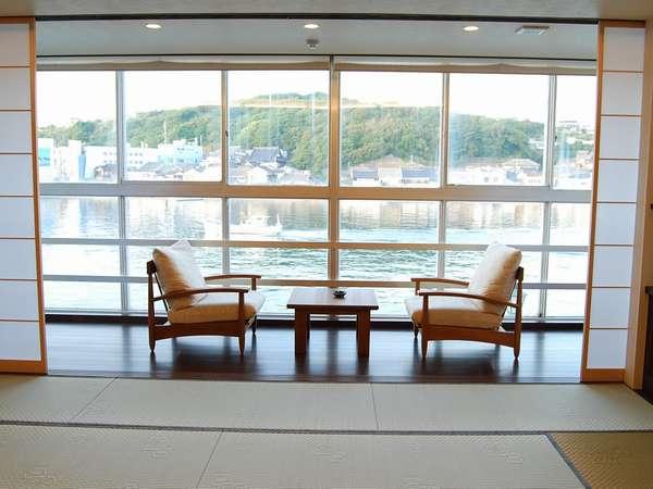 2009年4月にリニューアルした和室14畳からの眺め