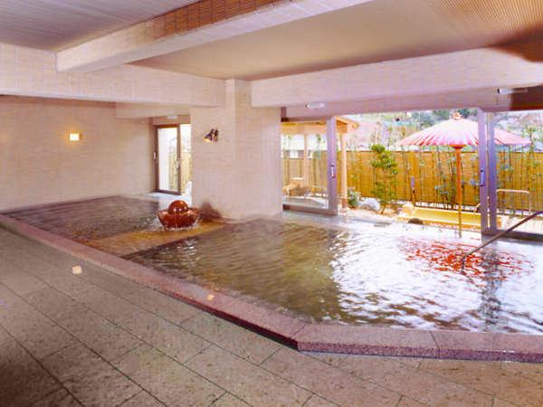 【男性大浴場】広々とした空間でゆったりとしたひと時を…