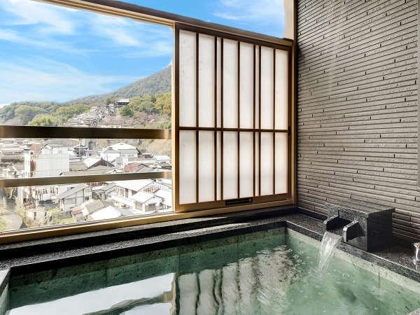 【-別邸初音プレミアム-露天風呂付】「天然温泉」と琴平の景色を一度に♪(金刀比羅宮ビュー側)