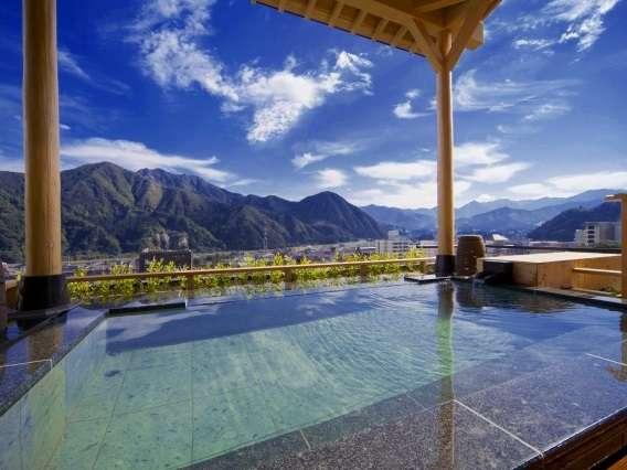 """【水が織りなす越後の宿 ホテル双葉】""""絶景露天風呂""""を含む『4ヶ所の大浴場』が楽しめる温泉旅館。"""