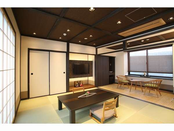 B301号室 茶系に統一された露天風呂付客室