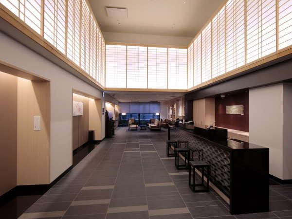 【フロント/ロビー】京都ならではの風情溢れる落ち着いた雰囲気を感じさせるロビーでお客様をお迎えします