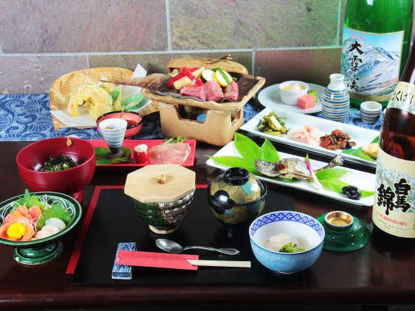 スタンダードなご宿泊料理は和食です。