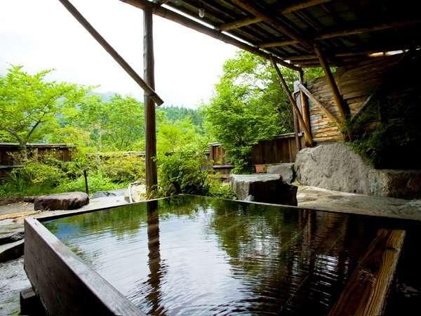 主人手作り!貸切露天の寝湯(無料)。寝転んで北アルプス眺望&温泉での~んびり