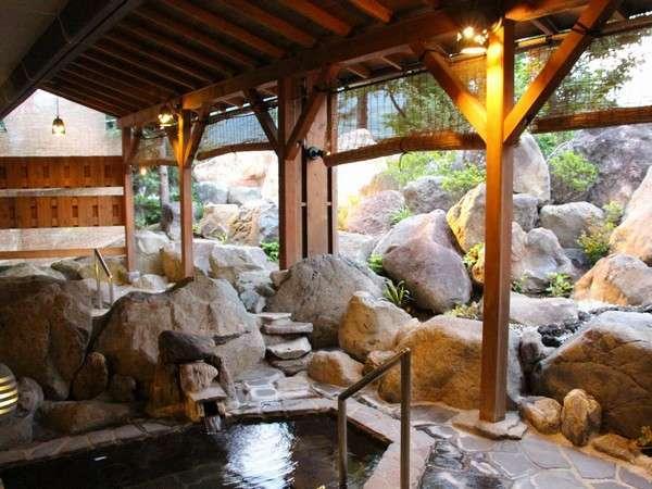 石の露天風呂「石ぼちゃ」