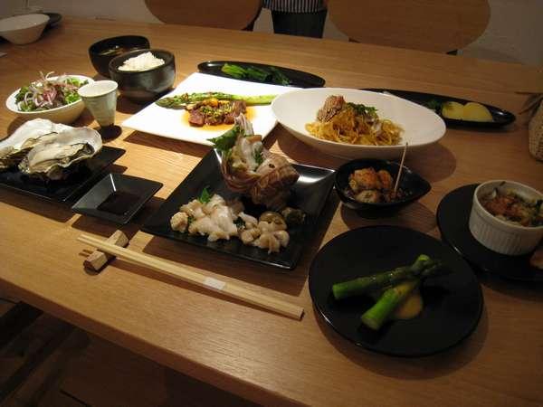 地元素材・道産素材を活かしたコース料理 宿主は北海道フードマイスター