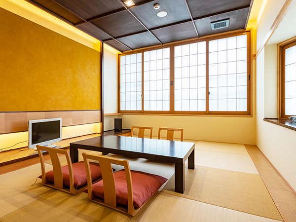 ◇30年リニューアルした和室です。越前焼の洗面等調度品にもこだわりが。最大2名様まで