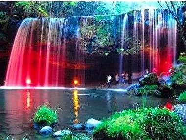 鍋ヶ滝のライトUP~^^
