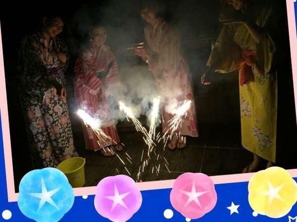 ★夜は川原で花火★ご希望の方には川原でかわいい花火出来ます