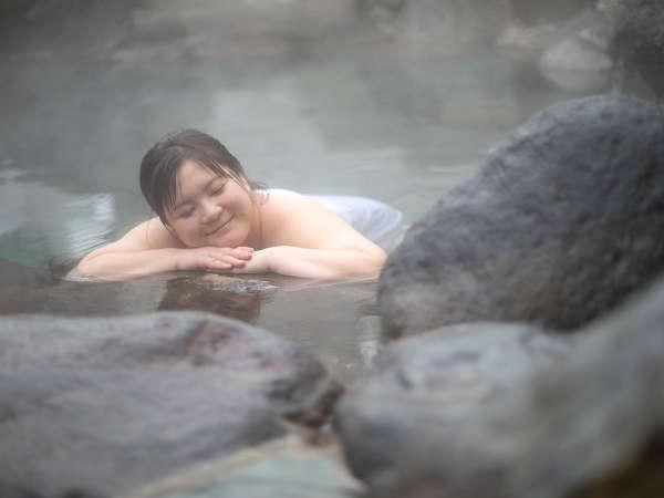 「ふぅ~いい湯だねぇ~」温泉ってホントいいよね。