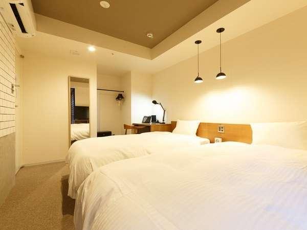 18平米~21平米の広さバリエーションがあるツインルーム(客室の一例)