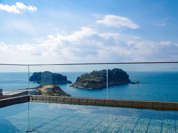 ☆2019年2月新設☆展望浴場「ハナフリ」露天風呂からの海景色