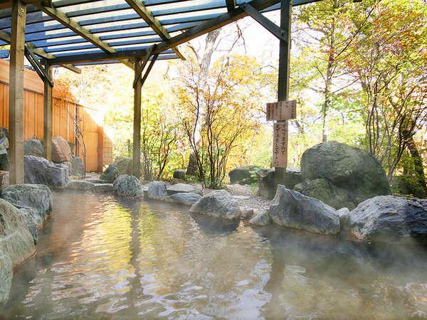 【温泉湯めぐりの楽しみ】フォレストヴィラ『森の湯』自然×温泉2つの癒しが揃う大浴場