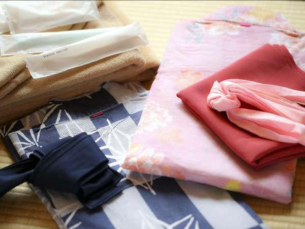 ■アメニティ 男女共に色浴衣をご準備しております