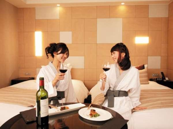 余裕のある34㎡の空間とスタイリッシュな客室デザインが女性からの支持率が高い理由♪