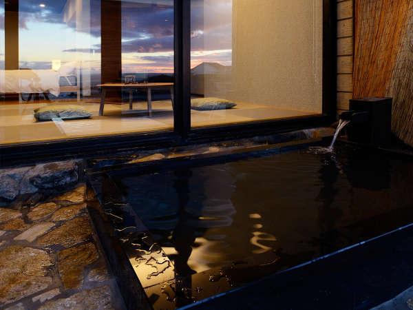 特別客室の露天風呂