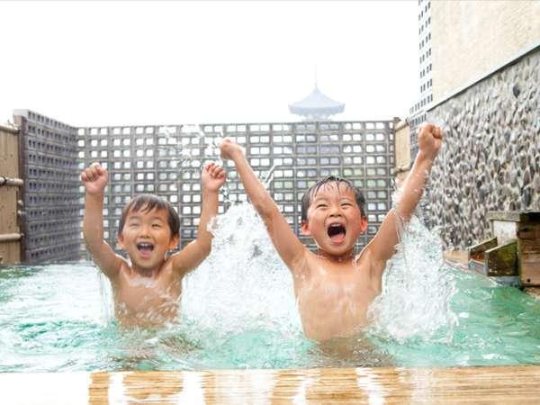世界遺産が見れる露天風呂だー!!