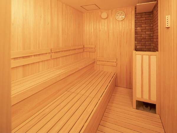 【男性用大浴場/サウナ】男性大浴場のみサウナ併設。サウナで汗を流し、心身ともにリフレッシュ!