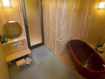 ●貸切露天風呂●洗い場が珍しい畳♪