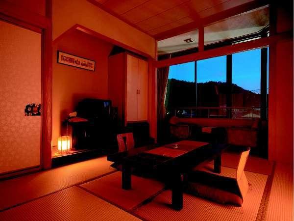 別館客室例(夕方)※10畳/バスなしウォッシュトイレ付き