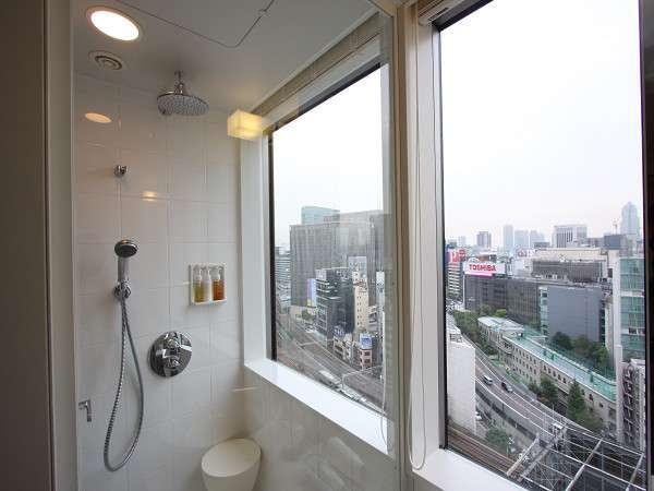 【セミダブル】窓側のシャワーブースからは、外の景色がお楽しみいただけます。(一例)