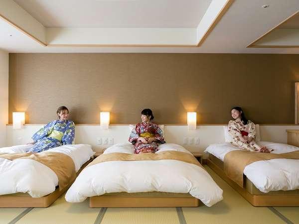 【客室】デラックストリプル≪バス付≫:女子3人組の女子旅にもピッタリ♪