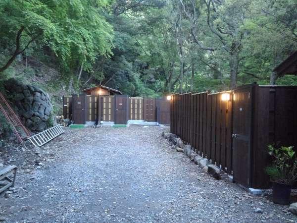 溶岩洞窟温泉の露天風呂