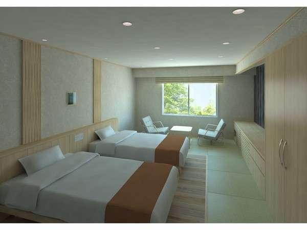 快適さと寛ぎの両立した和洋室。