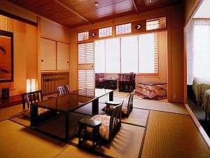 10畳の和室にベッドルームが付いた和洋室(客室タイプが多いため写真のお部屋は一例です)