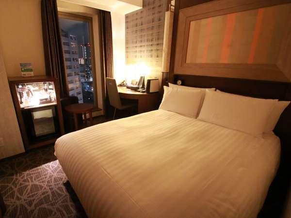 【シングル・ダブル】面積18.9㎡ゆったりお寛ぎ頂ける150cm幅のベッドを御用したスタンダードタイプ。
