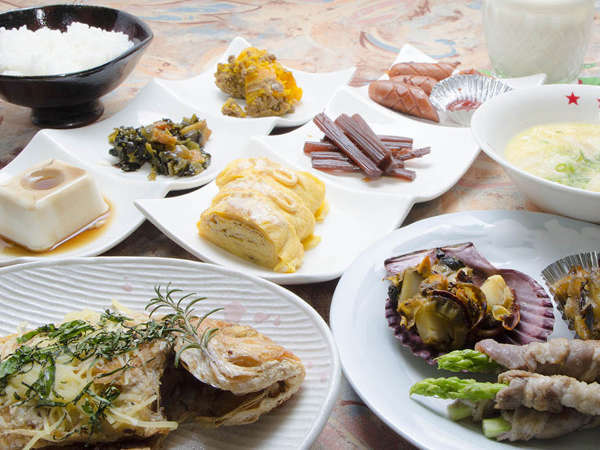 【朝食一例】レンコダイを使った創作料理をお楽しみいただけます!