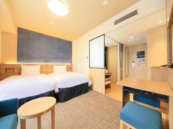 【ツインルーム】25.8㎡ シモンズ社製ベッド幅120cm 「桜」+「格子」がモチーフ