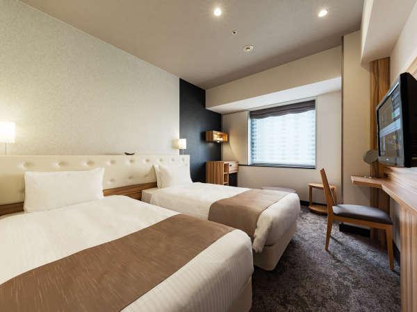【スーペリアツインルーム】シモンズ社製のベッドで快適な睡眠を。(イメージ)