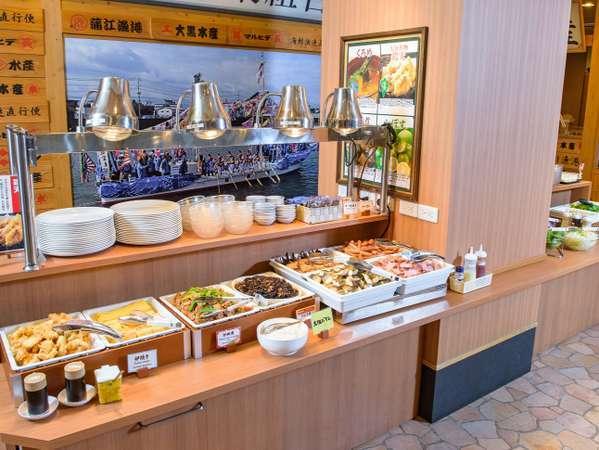 和洋朝食バイキング会場 1階「さかなや道場」