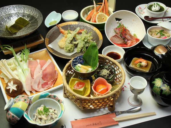 ◆【桜草コース一例】やわらかくジューシーで美味しいもち豚のしゃぶしゃぶと旬のお刺身のお造りがメイン♪