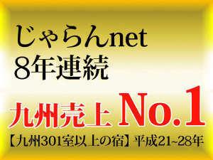 【じゃらんnet 8年連続 九州売上No.1】