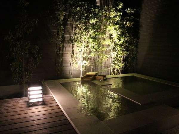 【温泉】客室露天風呂(露天風呂は全部屋ありますが、寝湯のないお部屋もあります)