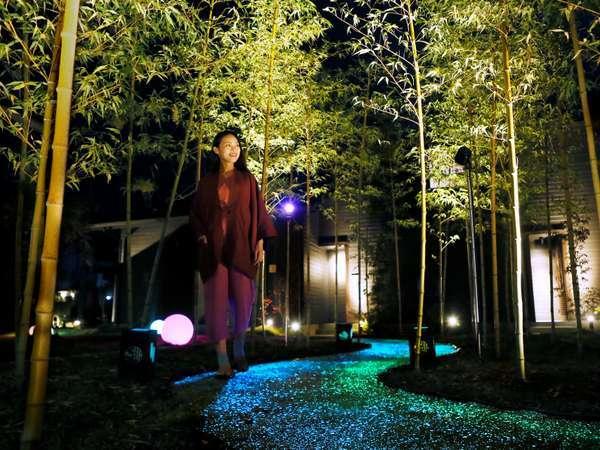 【光りの道】九州初上陸の光りの道。ご宿泊のお客様のみ見ることが出来るお楽しみです^^