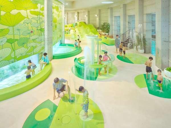 プール「イルマーレ」森をテーマにしたお子様用水遊びエリアが誕生!