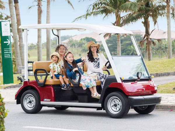 【レンタルカート】アトラクション感覚で乗れるため、お子様にも大人気です。