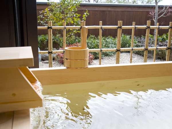 タイプの異なる客室露天風呂