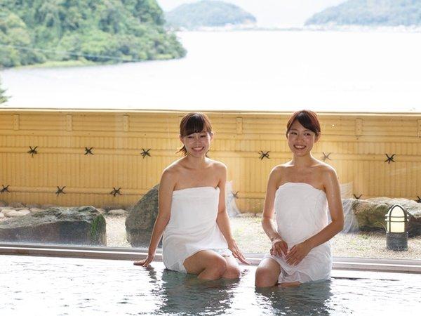 東館の露天風呂からは琵琶湖の景色がとてもキレイ!