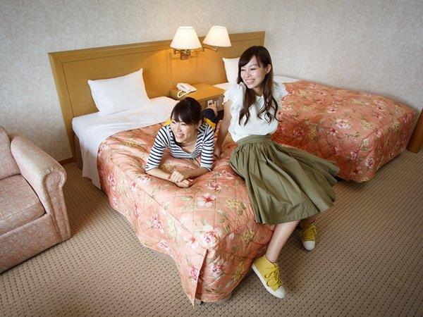 東館の洋室。ベッドでゆっくり~☆